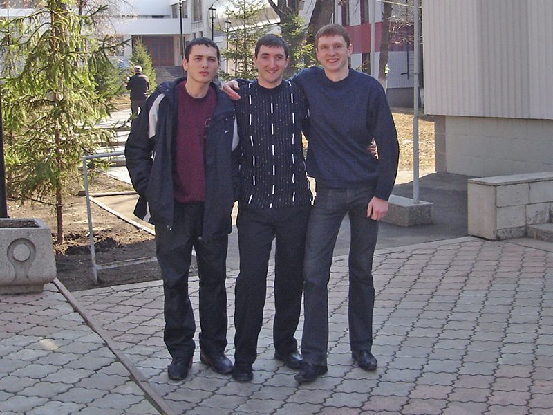 With my friend Sergey and student Pavel, Kharkiv Sport School, April 2007