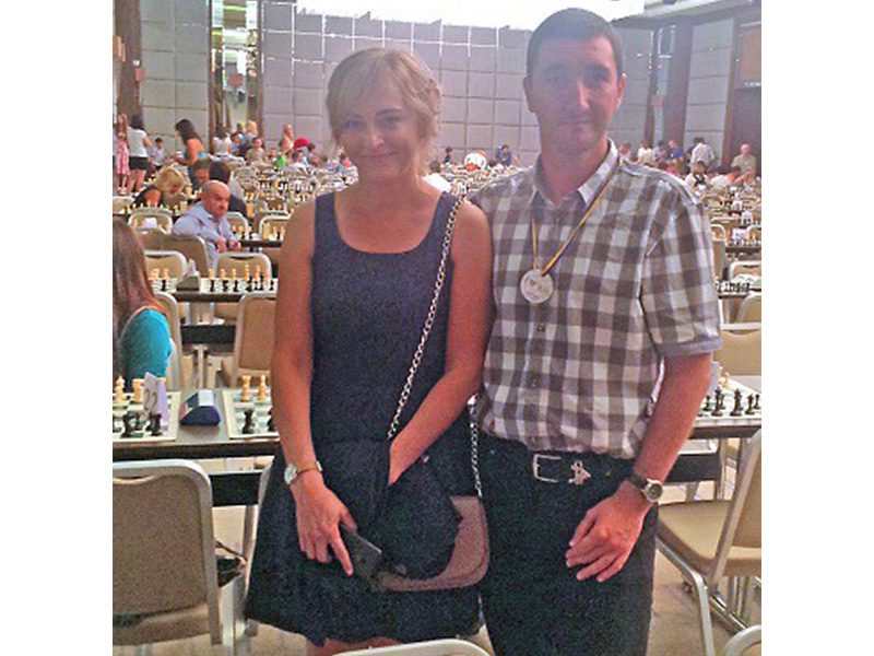 With Anna Ushenina at the Kharkiv City Ches Day, August 2016