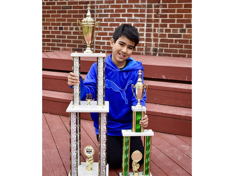 Jonah wins the K-5 Virginia Championship, March 2019