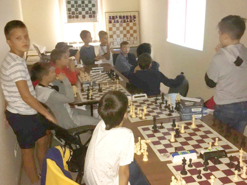 Teaching at the local chess club, September 2018